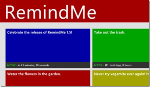 Review: RemindMe for Windows 8