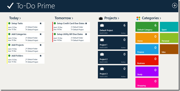 Review: To-Do Prime for Windows 8 and Windows Phone 8