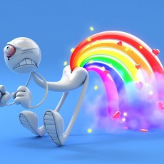 Rainbow Fart iPad wallpaper